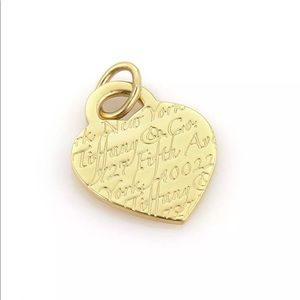 Tiffany & Co 3rd Ave Return 14k Gold Heart TAG